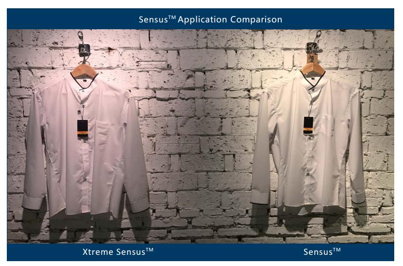 Sensus and Xtreme Sensus make whites crisper and to render more vivid and saturated colors