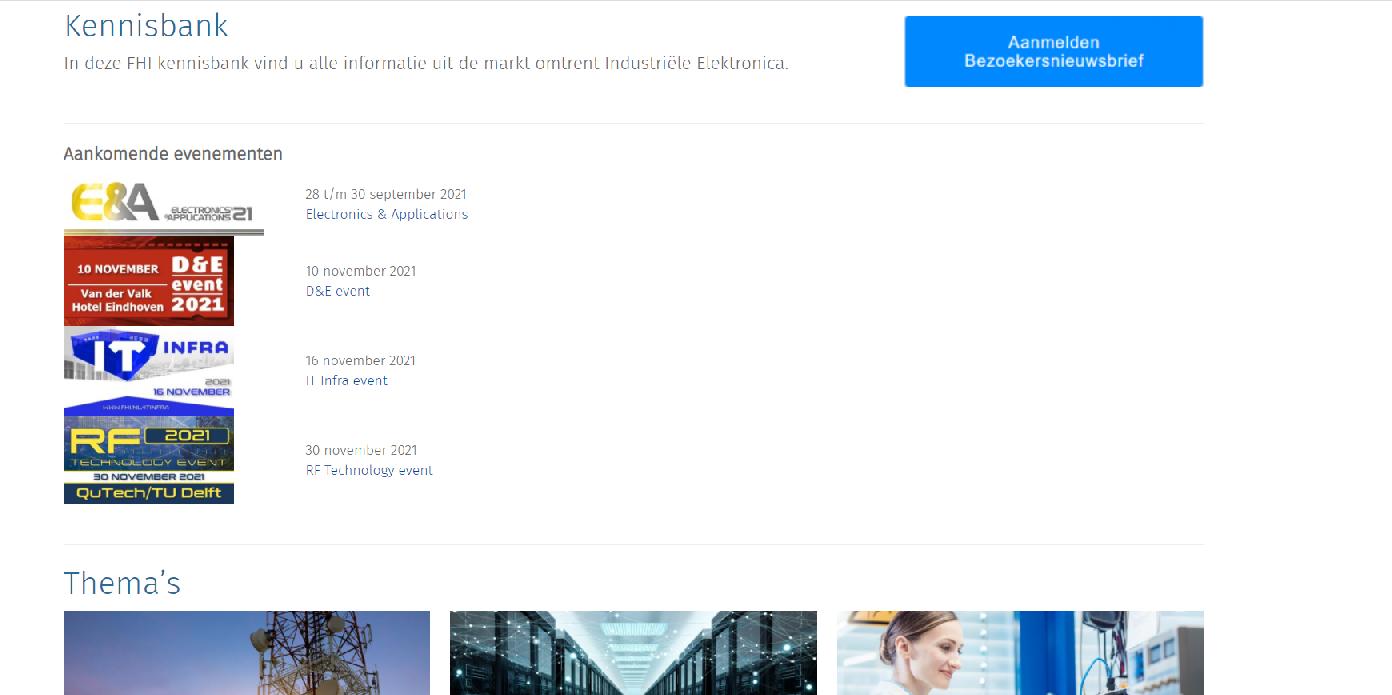 FHI Industriële Elektronica presenteert online Kennisbank