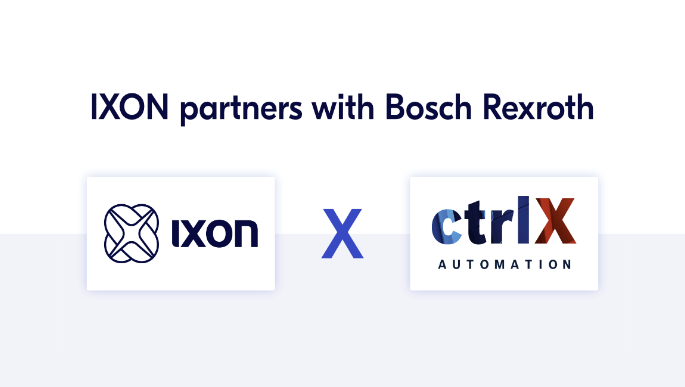 IXON partners with Bosch Rexroth for their Open Automation System