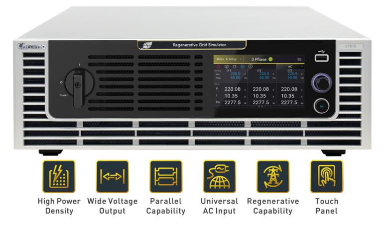 Chroma 61815 Regeneratieve AC Grid Simulatoren