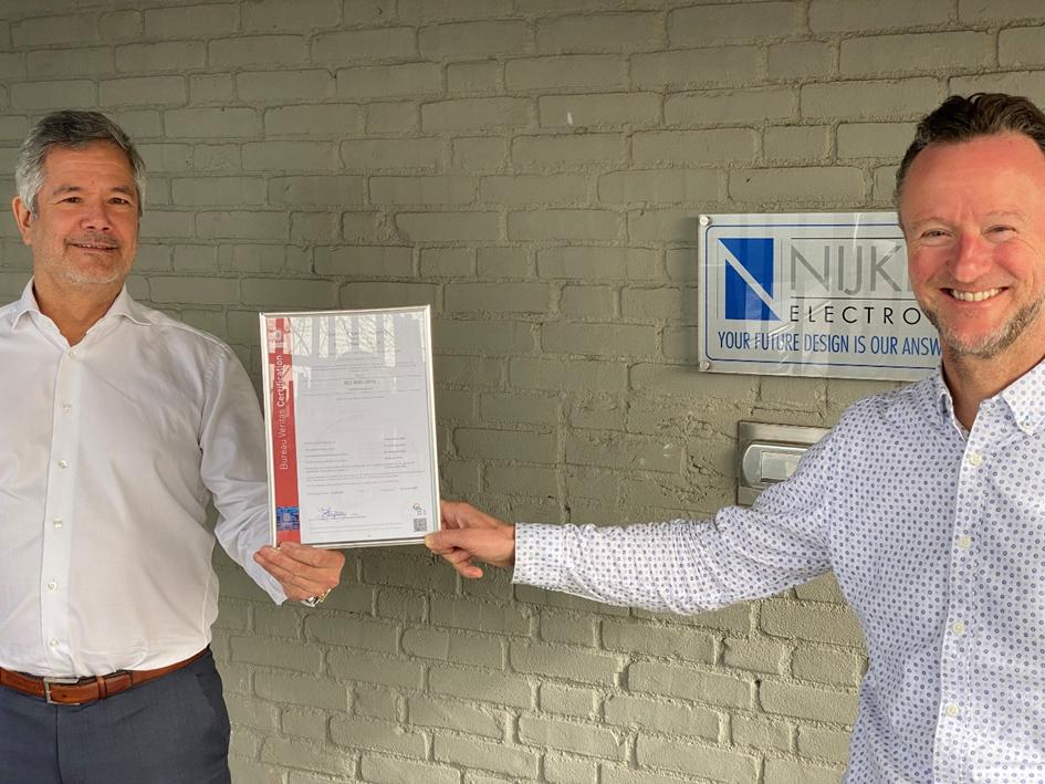 New ISO 9001:2015 Certification for Nijkerk Electronics