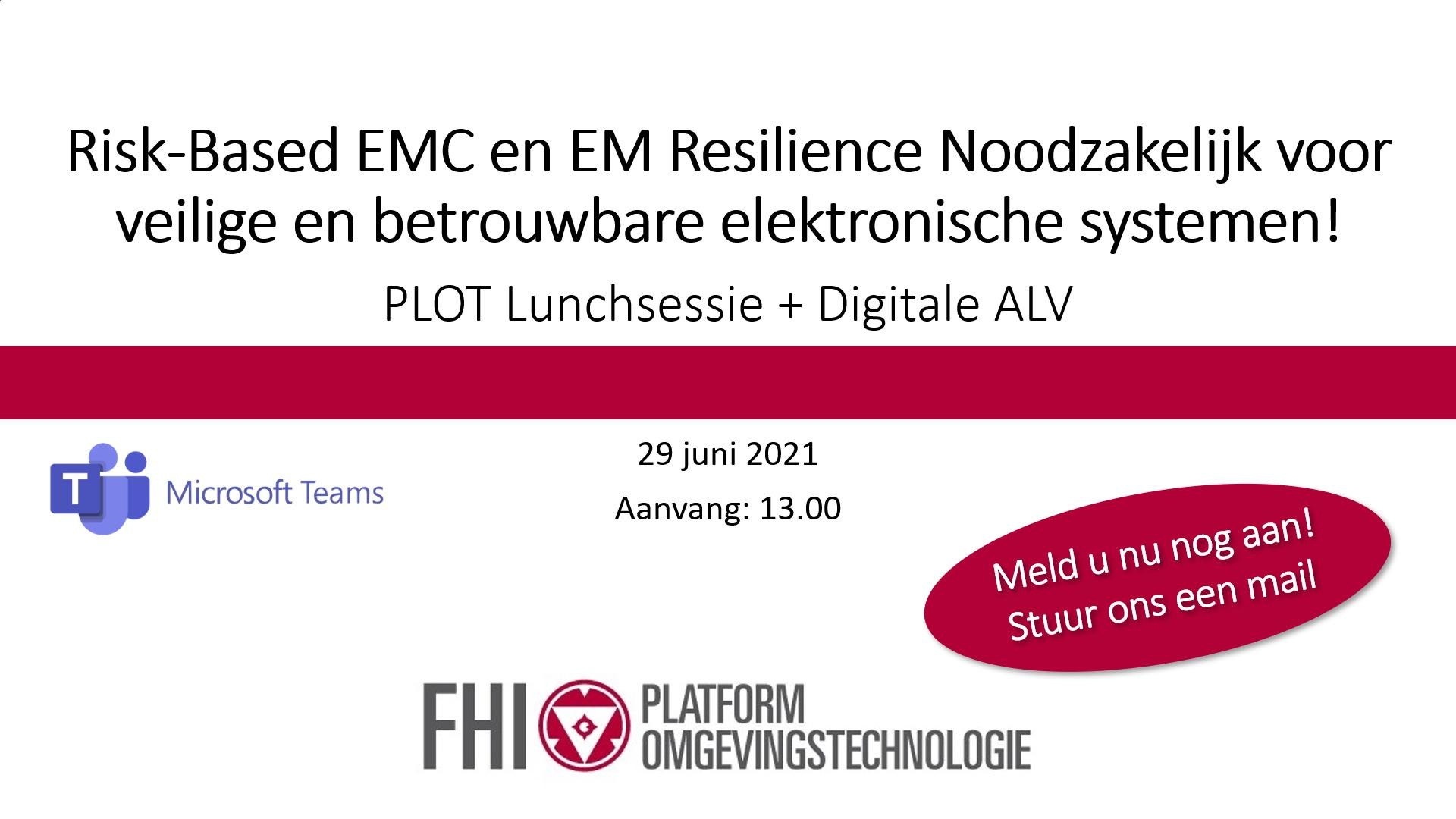 Digitale ledenvergadering PLOT gecombineerd met lunchsessie op 29 juni