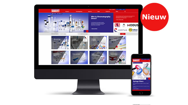 Vernieuwde website Chromatography Direct online