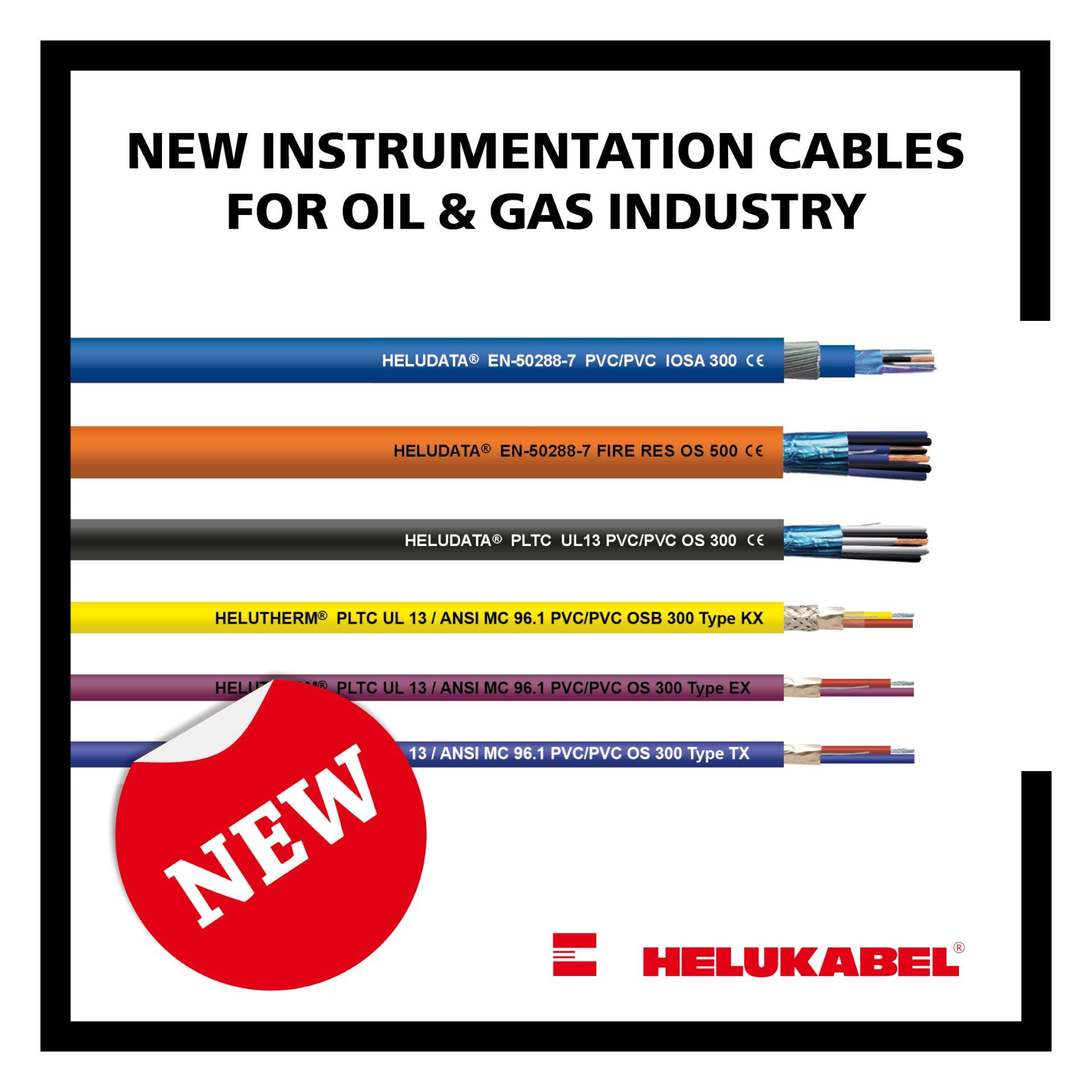 Nieuwe kabels van Helukabel