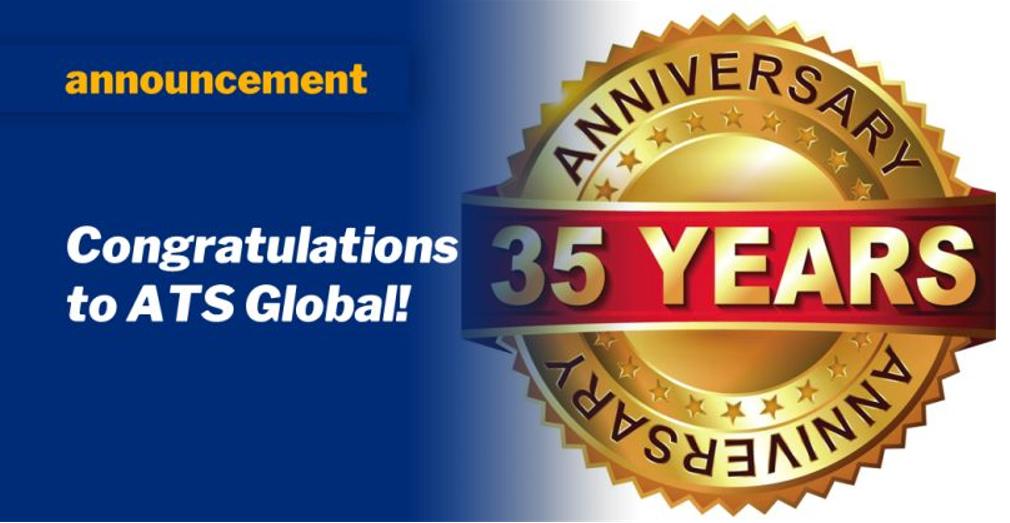 Gefeliciteerd, ATS Global bestaat 35 jaar!