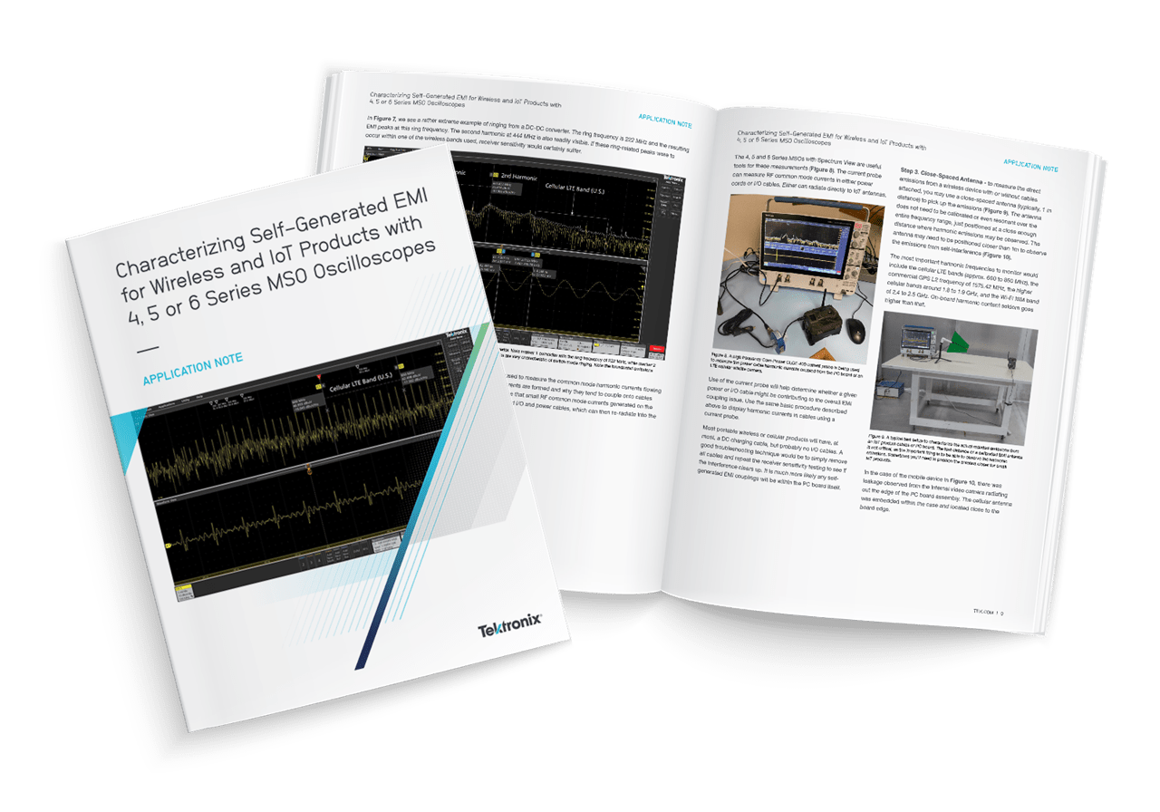 Characterizing Self-Generated EMI for Wireless and IoT Products with 4, 5 or 6 Series MSO Oscilloscopes