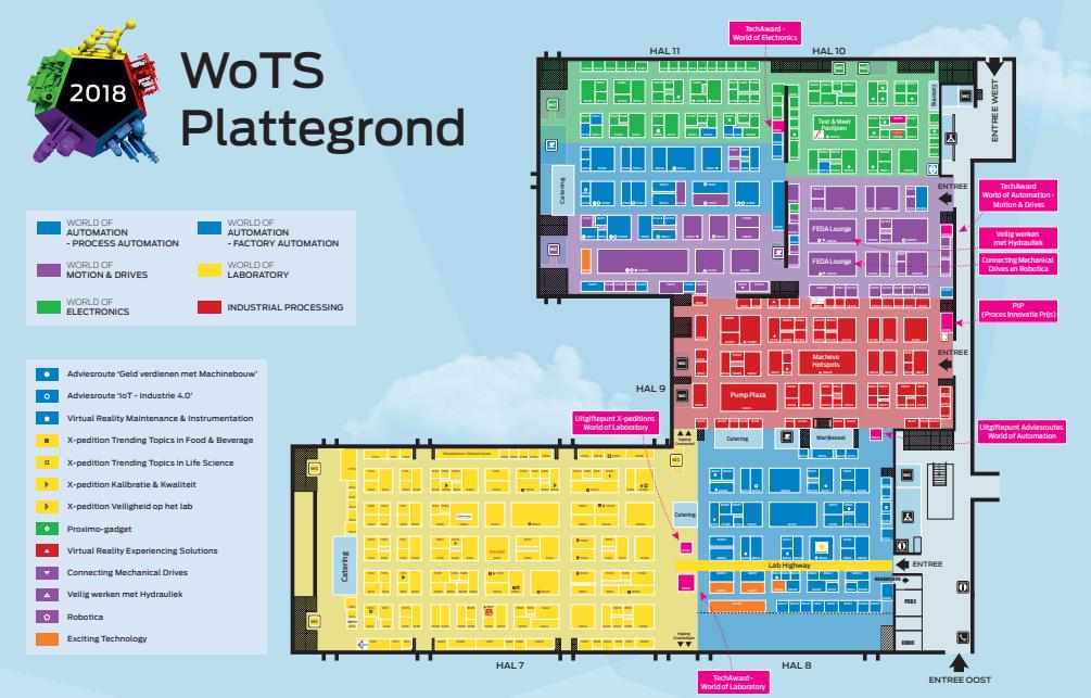 Inschrijvingen en plattegrond World of Electronics