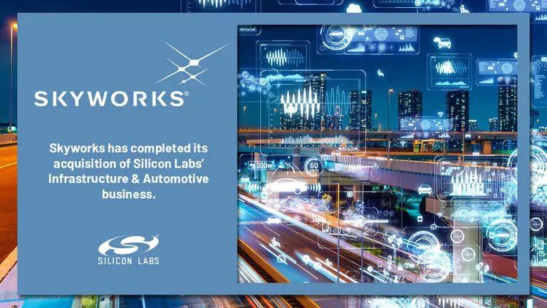 Alcom blijft uw distributeur voor Infrastructure en Automotive-producten via Skyworks Inc.