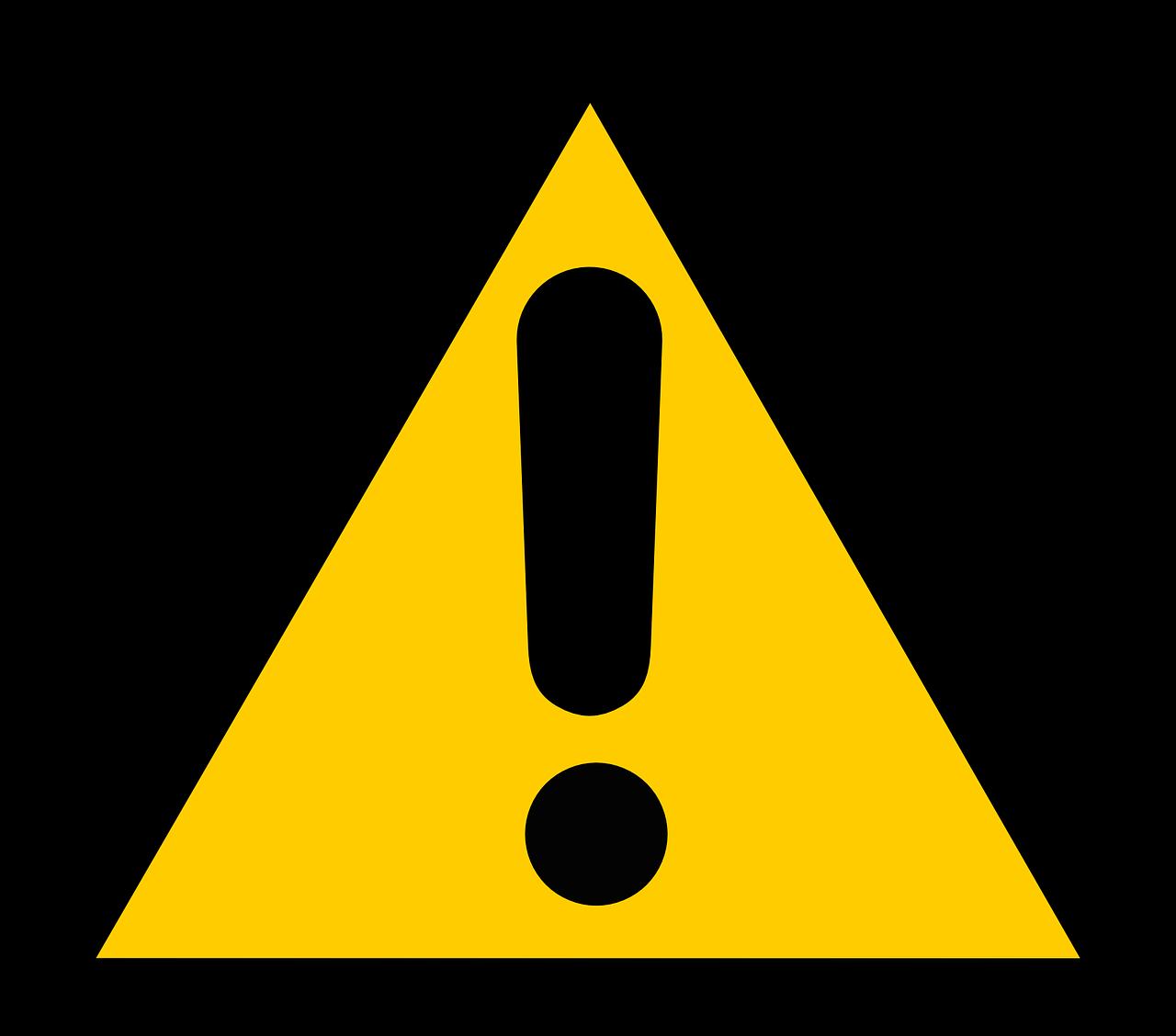 Waarschuwing voor exposanten
