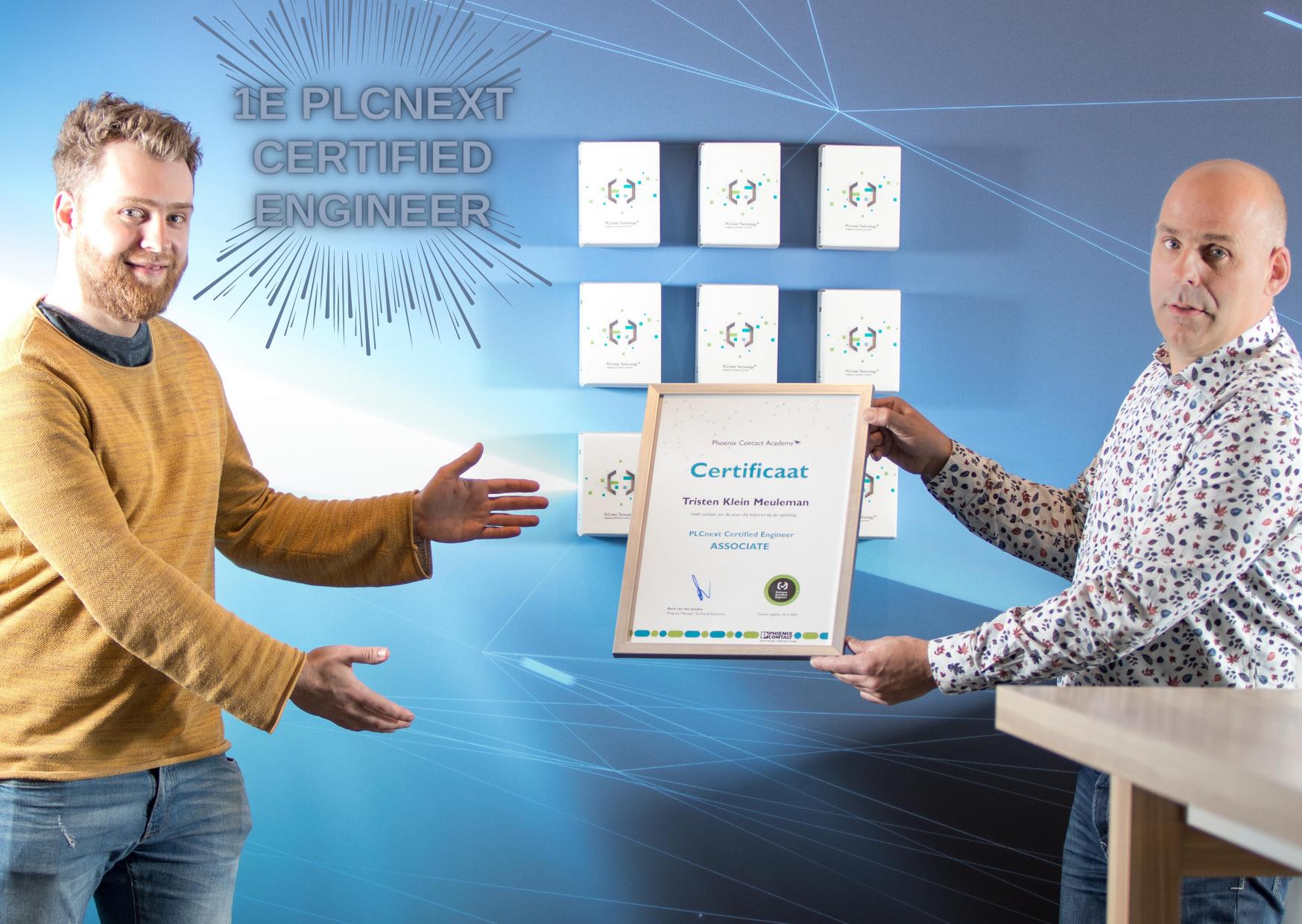 Het eerste PLCnext Certified Engineer certificaat uitgereikt!