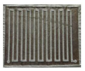 Stretchbare, elektrisch geleidende stof voor flexibele elektronica applicaties