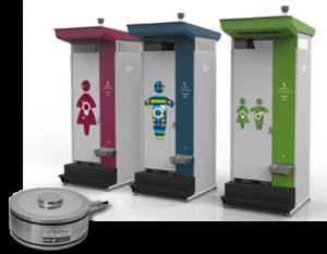 Zemic krachtopnemers toegepast voor weging in nood toilet