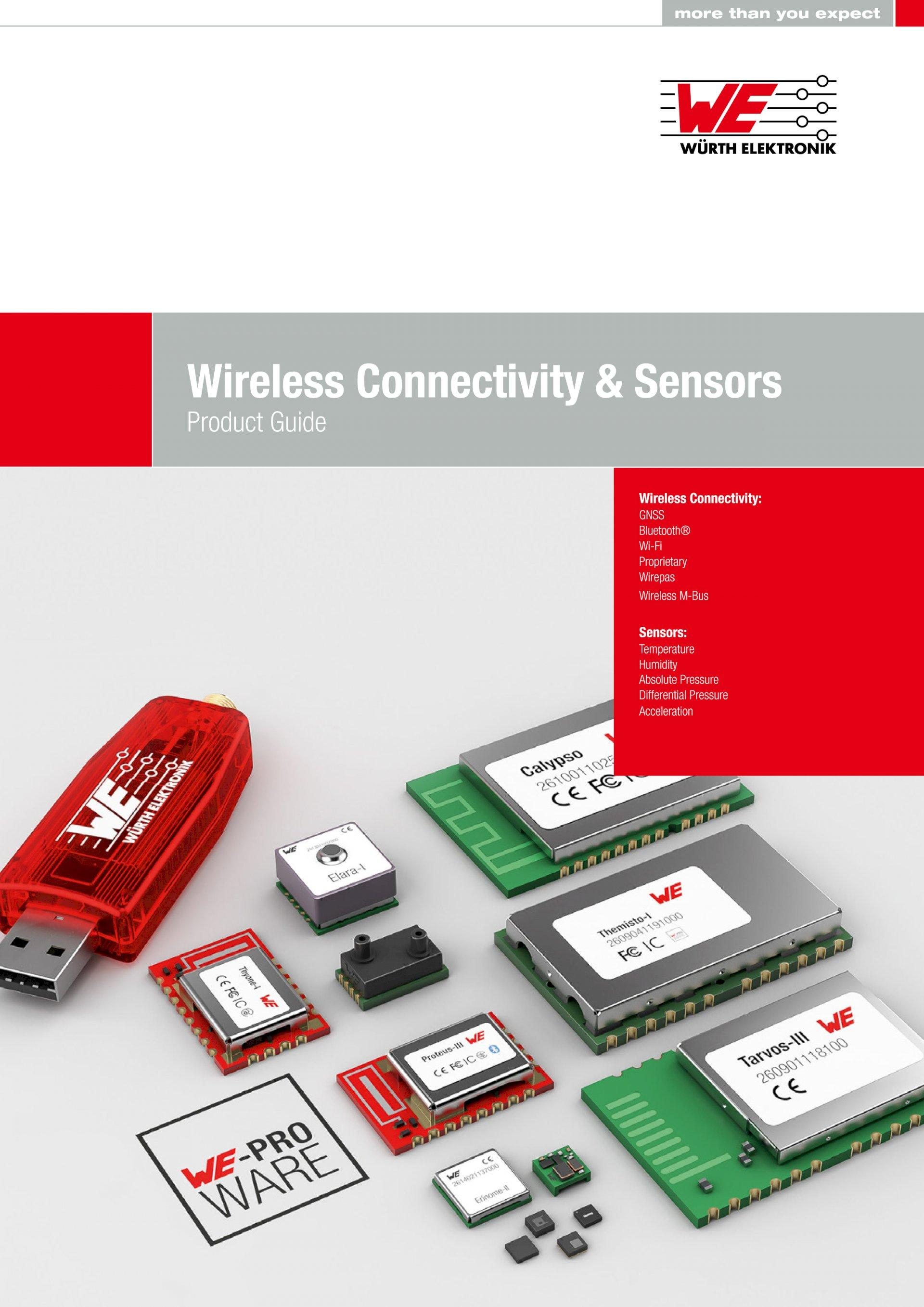 Würth Elektronik presents its Wireless Connectivity & Sensors Product Guide