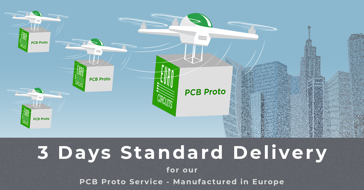 3 Working Days Standard Delivery Term for Eurocircuits' PCB proto service.