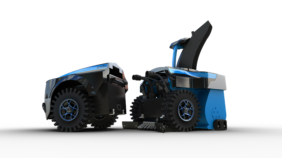 Say hello to Kobi: Little robot gardener can cut grass, rake up leaves and even plough snow