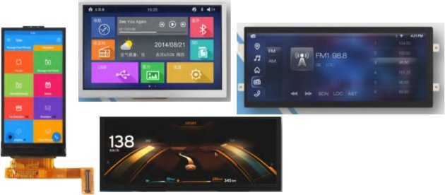 DLC Display Introduces four new TFT displays