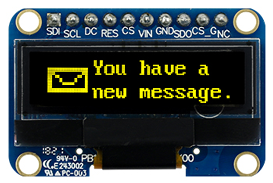 3.12″ COF Graphic OLED WEX025664B with PCB