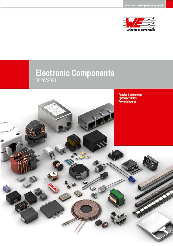 Würth Elektronik publishes its Electronic Components 2020/2021 catalog