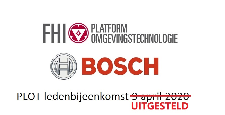 9 april 2020 - PLOT-ledenbijeenkomst Bosch Security Systems