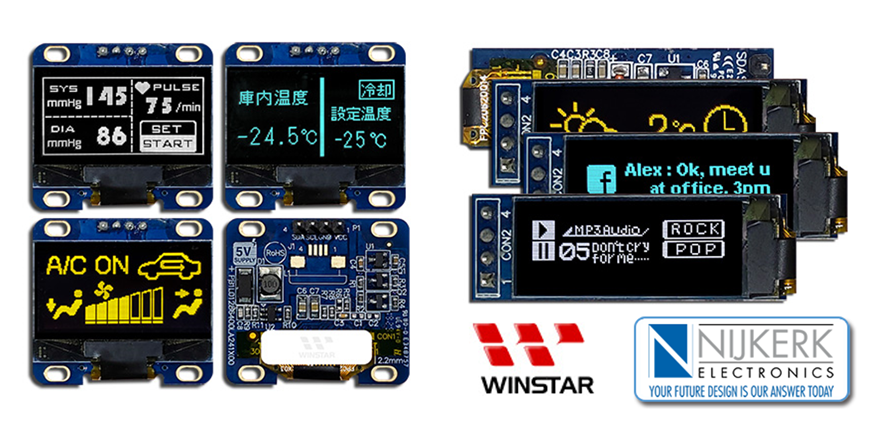Winstar releases two new graphic OLED modules