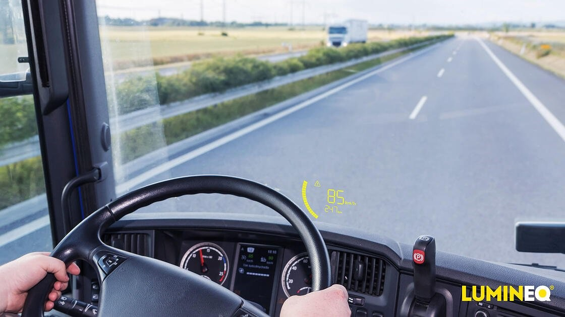 LUMINEQ Webinar invitation: Head-up display solutions for vehicles and heavy machines