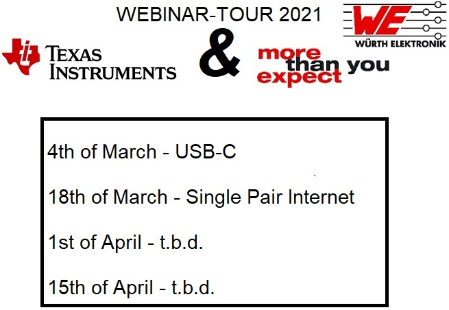 Webinartour Texas Instruments and Würth Elektronik