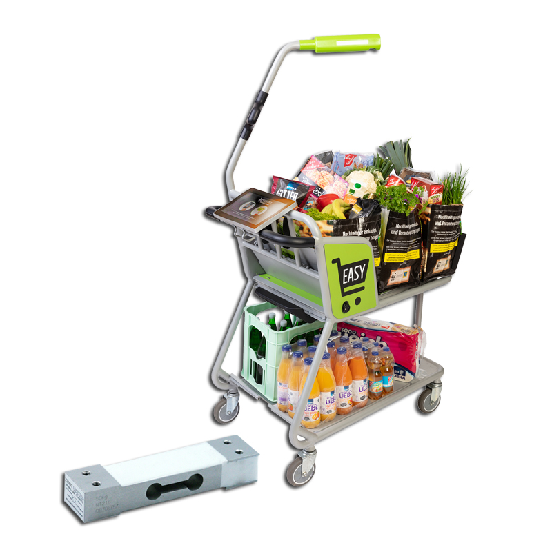 Geïntegreerde Zemic weegsensoren in Easy Shopper winkelwagen