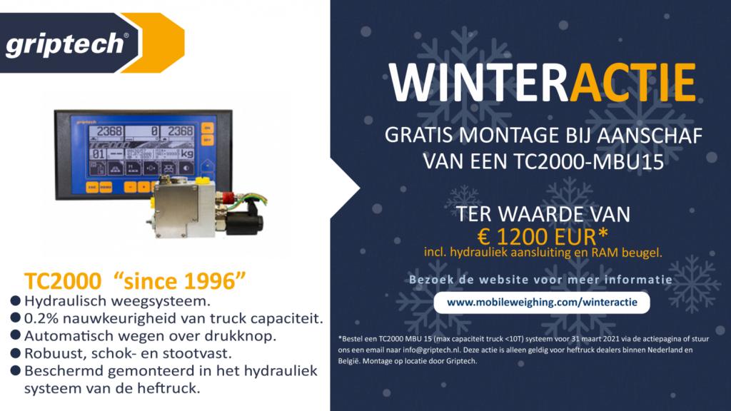 Griptech Winteractie - hydraulisch weegsysteem TC2000 voor heftrucks intern transport