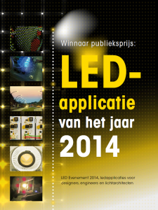 Flyer LED-applicatie award
