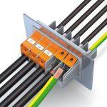 Wanddoorvoerklem voor hoge stromen met snelle T-LOX-aansluittechniek