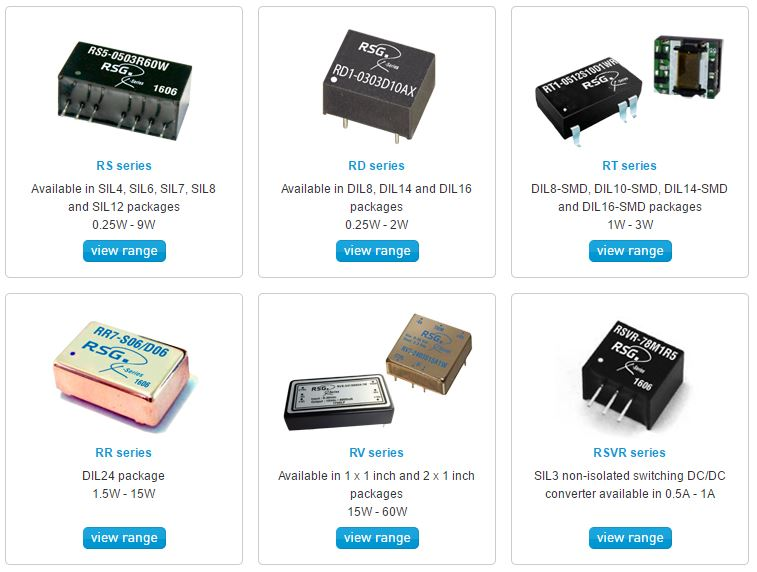 Specialist in the supply of high-quality DC/DC converters, for more