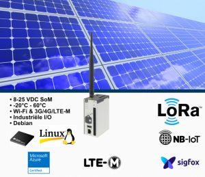 Deze Azure IoT Edgecertified Gateway kan middels LoRa, Sigfox, NB-Iot en LTE-M communiceren.