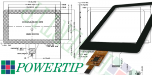 Powertip TFT touch panel display
