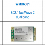 Dual band and Single Band Wave II 11ac modules in standard mPCI-e format