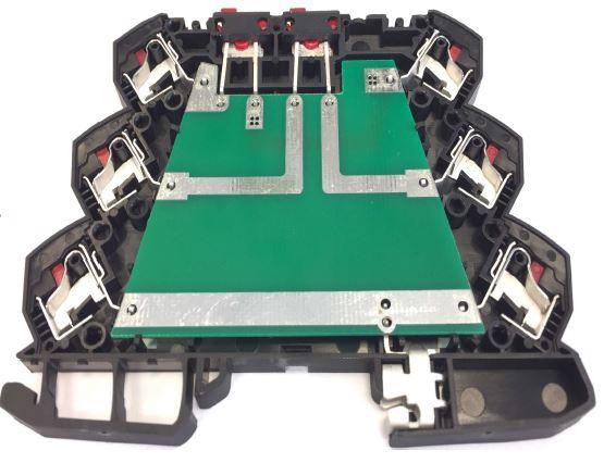 DIN-rail klemmenbehuizing sneller monteren