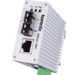 Slim-sized Fast Ethernet to Fiber Media Converter