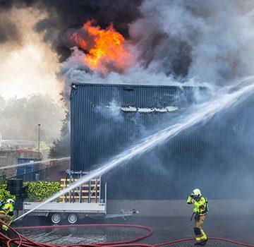 Foto bestrijding van de brand in Nunspeet